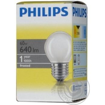 Лампа Philips Р45 кульова матова 60w Е27