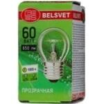 Лампа куля Бєлсвєт прозора 60Вт цоколь Е27