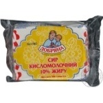 Cottage cheese Dobriana 10% 250g Ukraine