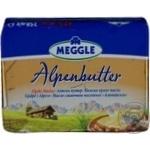Масло Меггле альпийское сливочное 82% 250г Германия