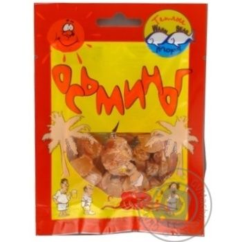 Snack octopus Tepli morya dried 18g Ukraine
