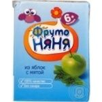 Apple juice-containing drink Fruto nanya with mint extract unclarified for children from 6 months 200ml Russia