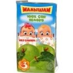 Sterilized sugar-free juice Fruto Nyanya Malysham apple for children from 3+ months tetra pak 125ml Russia