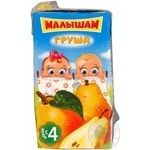 Unclarified sterilized nectar Malysham pear for children from 4+ months tetra pak 125ml Russia