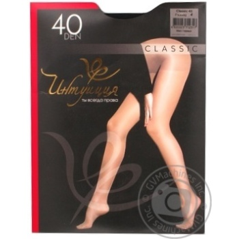 Intuicia Classic Women's Tights 40Den Black size 4 - buy, prices for MegaMarket - image 5