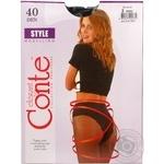 Колготи Conte Style жіночі 40 ден чорні розмір 2