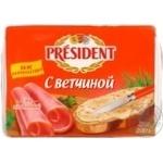 Сир Президент плавлений з шинкою 45% 200г