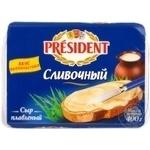 Сыр Президент Сливочный плавленый 45% 400г Украина