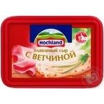 Сир Хохланд плавлений з шинкою 55% 400г Росія