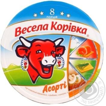 Processed cream cheese Vesela korivka mix 8 portions 40%-45% 140g Slovakia