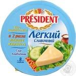 Сыр Президент Легкий плавленый 20% 140г Россия