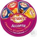 Сыр Президент Асорти плавленый 45% 140г Украина