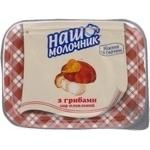 Сыр Наш молочник грибы плавленный 60% 100г Украина