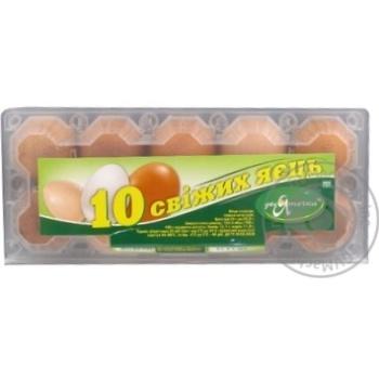 Яйце куряче Десяточка С1 10шт (колір товару на фото може відрізнятися від кольору товару на полиці)