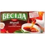 Черный чай Беседа Крепкий байховый в пакетиках 24х1.8г Россия