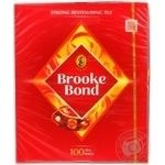 Black pekoe tea Brooke Bond 100х1.8g teabags Russia