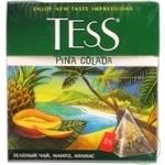 Зеленый чай Тесс Пина Колада манго и ананас пакетиках 25х1.8г Россия