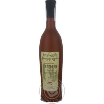 Вино красное Грузинское Застолье Саперави натуральное сухое 12% 750мл - купить, цены на Novus - фото 1