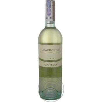 Вино Cantele Chardonnay 12.5% 0.75л - купити, ціни на CітіМаркет - фото 1
