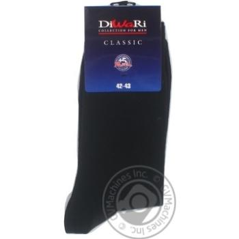 Носки мужские DiWaRi Classic 000 черный р27 пара - купить, цены на Novus - фото 4