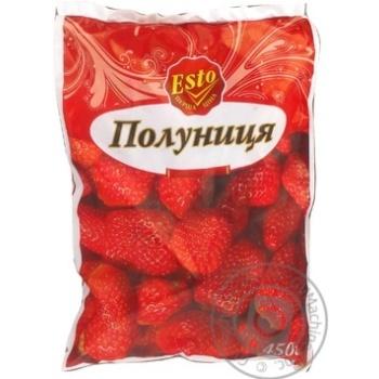 ягода клубника Эсто замороженная 450г Украина