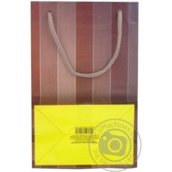 Пакет подарунковий 15х7,5х15см в асортименті - купити, ціни на CітіМаркет - фото 5