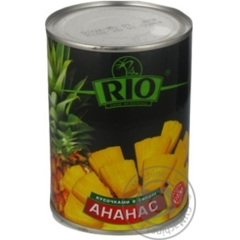 Ананаси Ріо шматочками в сиропі 580мл Таїланд - купити, ціни на Novus - фото 7