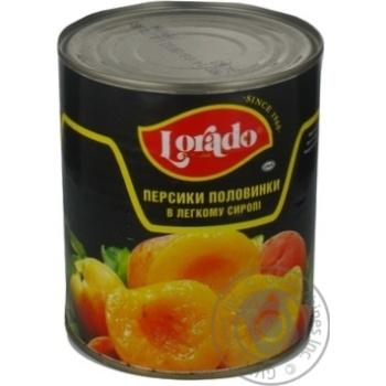 Персики Лорадо половинки в легком сиропе 820г Греция