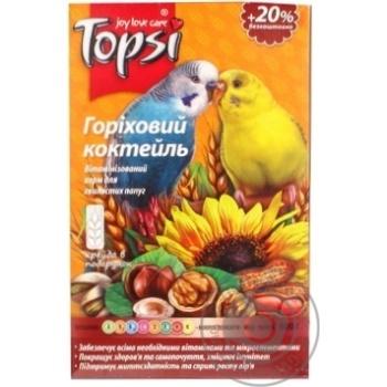 Корм для волнистых попугаев Topsi витаминизированный ореховый коктейль 600г