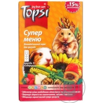 Корм Topsi для грызунов Супер меню 575г