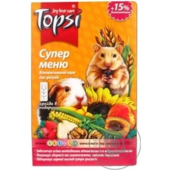 Корм Topsi для грызунов Супер меню 575г - купить, цены на Novus - фото 6