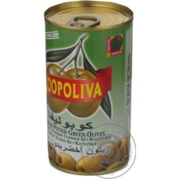 Оливки Coopoliva зеленые без косточки 370мл - купить, цены на ЕКО Маркет - фото 7