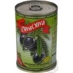 Diva Olivia Whole Black Olives 432ml