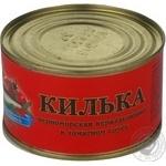 Килька Свято черноморская неразделанная в томатном соусе 230г железная банка Украина