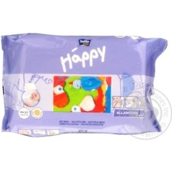 Салфетки влажные Bella baby Happy с витамином Е 64шт