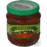 Vegetables tomato cherry tomatoes Family pickled 480ml glass jar Ukraine