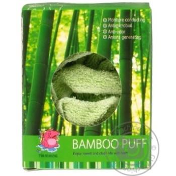 Мочалка-пуф Camille бамбук - купить, цены на Фуршет - фото 3