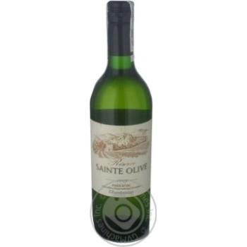 Вино белое Резерв Сан Олив Шардоне натуральное виноградное тихое сухое 13% стеклянная бутылка 750мл Франция