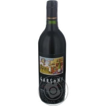 Wine Garson red dry 11% 750ml glass bottle France
