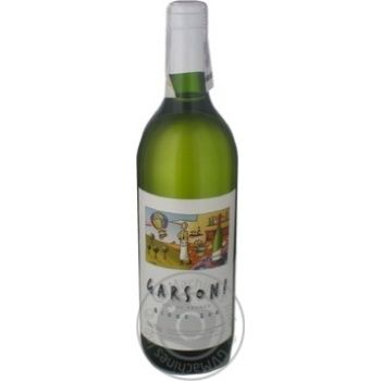 Вино требьяно Гарсон белое сухие 11% 750мл Бордо Франция