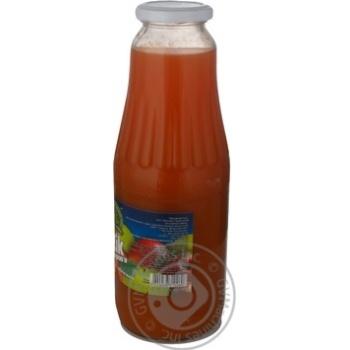 Сок Дары Ланив Здоровье морковно-яблочный стерилизованный стеклянная бутылка 1000мл Украина - купить, цены на Novus - фото 6