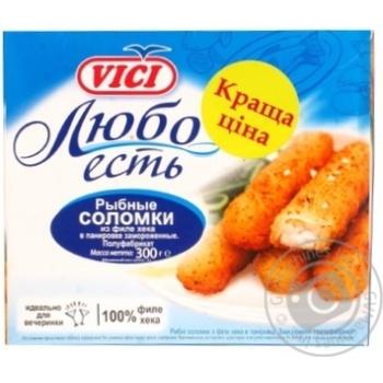 Рыбные соломки Vici Любо Есть из филе хека в панировке замороженные 300г Россия