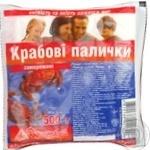 Crab sticks crab precooked 500g Ukraine