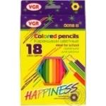 Набір олівців VGR 18 кольорів арт.00118B
