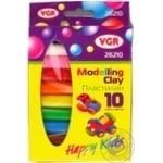 Пластилін дитячий VGR 10 кольорів 170г 26210