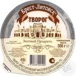 Сир Брест-Литовськ кисломолочний 3% 300г вакуумна упаковка Білорусія