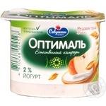 Йогурт Савушкин продукт Оптималь медовая груша-злаки обогащенный бифидобактериями 2% 120г пластиковый стакан Белоруссия
