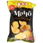 Potato chips Macho Premium XXL with French mustard taste 135g Ukraine