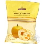 Чипсы Нобилис Голден яблочные 5 свежих яблок без применения жиров сахара соли и ароматизаторов 50г Венгрия