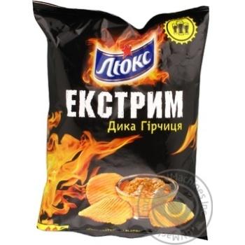 Chips Lux potato with mustard 80g Ukraine